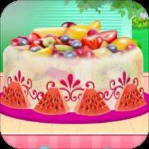 水果冰淇淋蛋糕烹饪